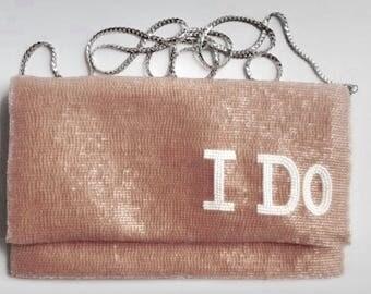 Personalized Clutch / Purse / Handbag -  Wedding Clutch Bag