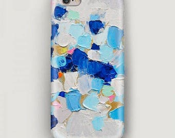Paints iPhone 7 Case, Strokes iPhone 6 Plus Case, Blue iPhone 5S Case, Art iPhone Case, iPhone 5c Case, Artist Phone Cover, Gift for Artist