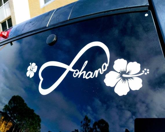Disneys Lilo And Stitch Inspired Ohana Car Decal With Hawaiian