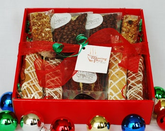 Holiday Coffee Break Gift Basket with coffee, homemade baked goods, hostess gift, birthday gift, corporate gift, holiday gift