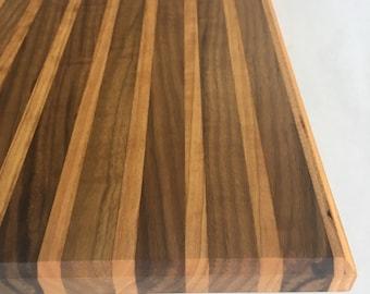 Handmade large Walnut/Cherry cutting board