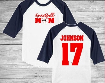 Baseball Mom Shirt, Baseball Mom T Shirt, Baseball Mom Raglan, Baseball Mom TShirt, Personalized Baseball Shirt, Game Day Mom Shirt