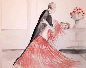 Let's dance  - Original Watercolor