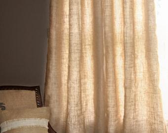 Curtains Ideas cream burlap curtains : Burlap drapes | Etsy