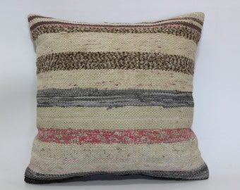 Anatolian Turkish Kilim Pillow 20x20 Kilim Pillow Sofa Pillow Anatolian Turkish Decorative Kilim Pillow Handmade Kilim Pillow SP5050-1470