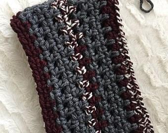 Riley scarf maroon//Infinity Scarf//Twist Scarf//cowl