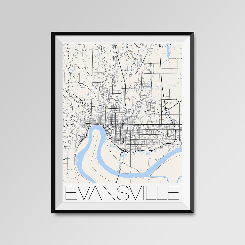 T shirt design evansville indiana - Evansville Indiana Map Evansville City Map Print Evansville Map Poster Evansville Map Art Evansville Gift Custom City Maps Indiana Map