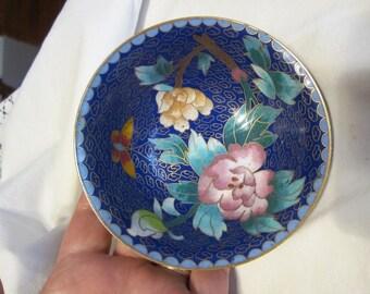 Cloisonne Enamel Brass Oriental Bowl Japan