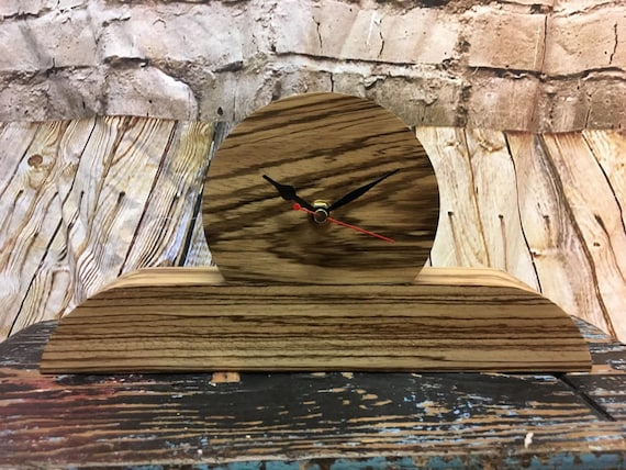 Stylish Zebrano wood mantle clock