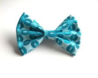 Nelly Bow - Blue Bow ~ Fabric bow ~ Lace Head band ~  Pigtail Bows ~ Baby Headband ~ Adult Headband ~ Kids Headband ~ Sky blue bow