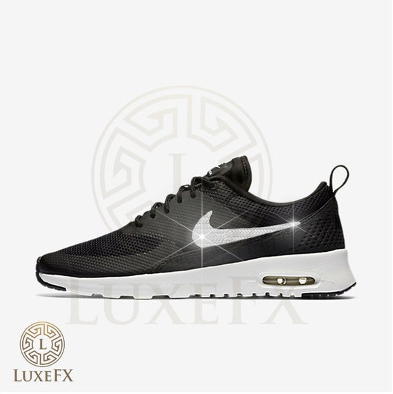 best sneakers fe9bb f82ab Womens NIKE Air Max Thea  Black Summit White W Crystal by LuxeFX outlet