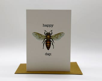 Happy Bee Day card x 1