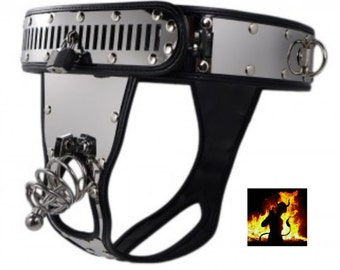 Chastity belt for men with cage + Dilitator