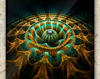 QUANTUM RIPPLES – Fractal Art Greeting Card: sacred geometry, mathematical, science, holistic, metaphysical, vibration, harmonic, hologram