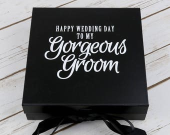 Gorgeous Groom Box - Grooms Box - Grooms Gift Box - Grooms Wedding Day Gift - Gift for my Groom - Empty Grooms Box