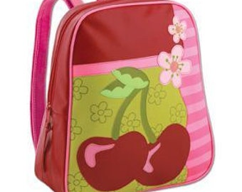 Cherry Preschool Backpack - embroidered free.