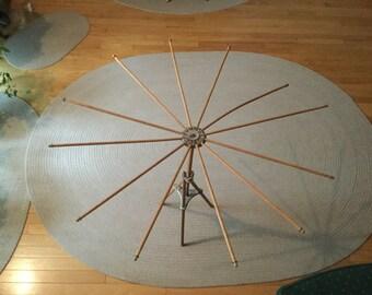 Antique Drying Rack Umbrella Style Wood Laundry Rack