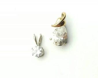 Set of 2 Petite Rhinestone Charms