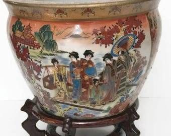 Vintage Chinese Porcelain Vase Oriental Decor