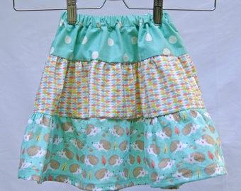 Tiered skirt, cotton skirt, adjustable waist, girls fashion, summer skirt, girls clothing, twirl skirt, handmade skirt, adjustable skirt