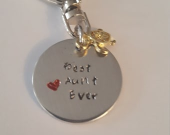 Best Aunt Ever //Best Aunt Keyring// Great Gift for Auntie.