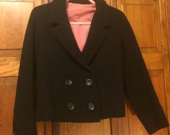 BONWIT TELLER, Anne Klein Jr. Sophisticates, Black Boucle Jacket/Blazer Size S