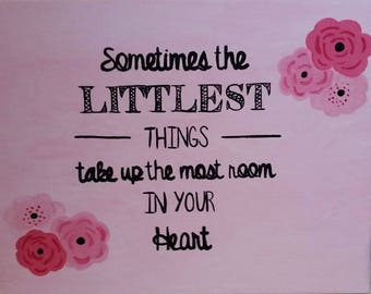 Littlest Things Canvas Painting