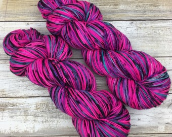 Hand Dyed Yarn | Superwash Merino Wool/Nylon Blend | Full-Bodied Sock/Fingering Weight | 100 g. | Youthberry | 4-ply