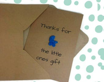 Thank you baby gift, thank you baby shower cards, baby thank you cards, Set of 6, thank you cards bulk, cute thank you notes, baby girl