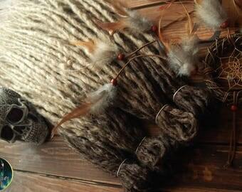 Crochet synthetic double ended DE dreads set dreads custom for full head handmade brown