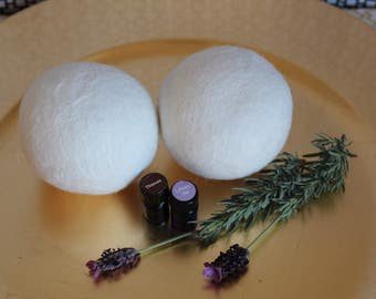 Laundry Gift Set - Organic Wool Dryer Balls with Essential Oils