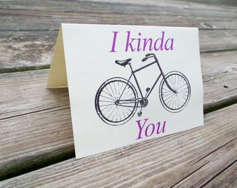 Bicycle Greeting Card - I like you