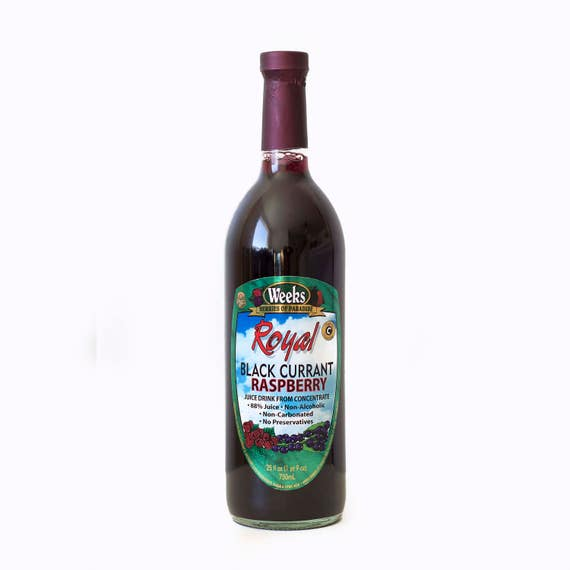 Royal Black Currant Raspberry Juice, No Preservatives, High in Vitamin C, Non-Carbonated - Utah's Own