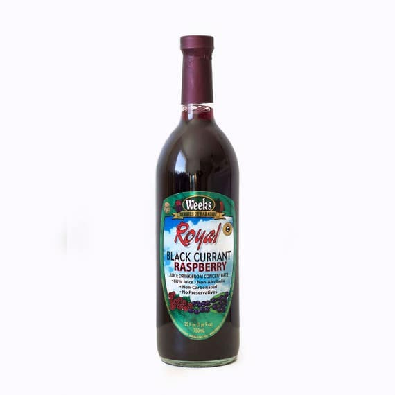 Royal Black Currant Raspberry Juice, All Natural, Organic, No Preservatives, High in Vitamin C, Non-Carbonated - Utah's Own
