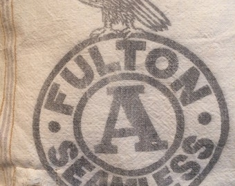 Fulton Feedsack Pillow