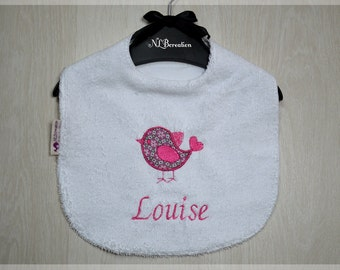 Customizable 6-9 month girl bib