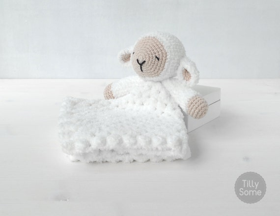 Free Crochet Lamb Cuddle Blanket Pattern : Sleepy Sheep Lovey Pattern Security Blanket Crochet Lovey