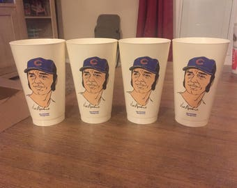 Early 1970s MLB 7-11 Baseball Cups - Chicago Cubs Joe Pepitone