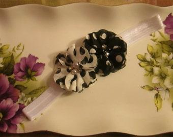 Polka Dots Mini Chiffon pearl flowers- Different colors