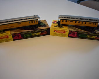 Vintage Mid-Century 1970's Roundhouse HO Model Train Denver & Rio Grande, Lot of 2, Old West Train,  Antique HO Trains, Vintage HO Train