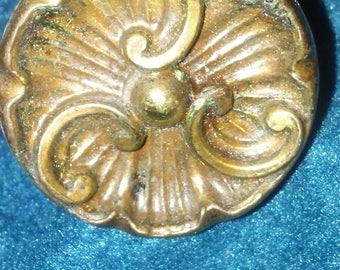 Vintage Metal Drawer Pulls, Old Cabinet Knob Pulls, Drawer Pull Knobs, Vintage Knobs, Cottage Charm, Antique Gold or Bronze Color