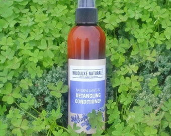 Natural Leave-In Detangling Conditioner – Natural Detangler and Fizz Control – Nourishing Leave In Conditioner