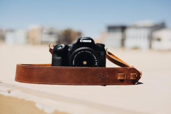 True Brown Leather Camera Strap for DSLR or SLR camera DSLR