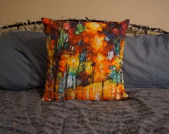 "Art ""From the Streets of Paris to the Comfort of Your Home"" - 18x18 inch Pillow Cover, Pillow NOT Included"