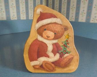 Vintage Christmas Bear Gift Box
