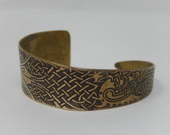 Old engraved copper bracelet