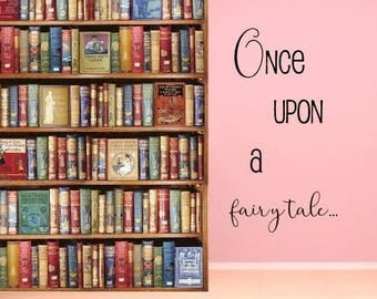Once Upon a Time Wall Decal - Fairytale Wall Decal - Removable Vinyl Wall Decal