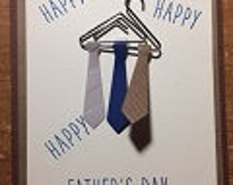 Happy Happy Happy Fathers Day Greeting Card