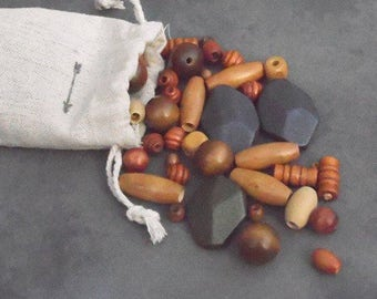 wooden beads, mixed wooden beads, beads supply, small beads, round beads, large wooden beads, mixed beads, jewelry supply, long beads, beads