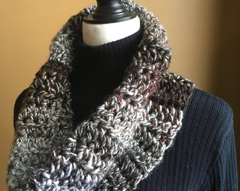 Gray Cowl, Black Cowl, Gray Scarf, Infinity Scarf